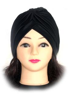 Polyester Turban Sun Cap Hat Black (Intl)