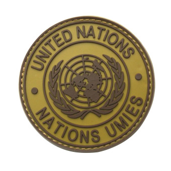 International United Nations Genuine Shoulder Patch Badge Mud Color - INTL