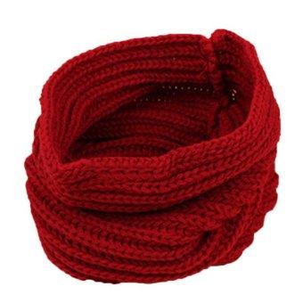 Bluelans Children Muffler Baby Woolen Yarn Knitted Scarf Boy Girl Wrap Red (Intl)