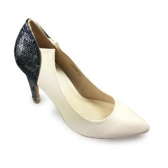 Giày bít nữ cao gót 9f hậu phối da rắn