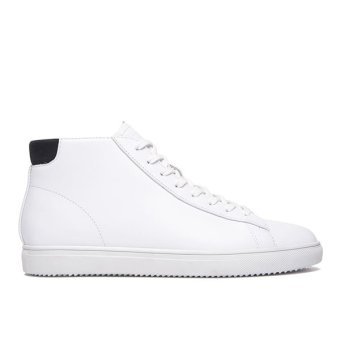 Giày Sneaker nam Cổ Cao Clae Bradley Mid (Cla01302) (Trắng)