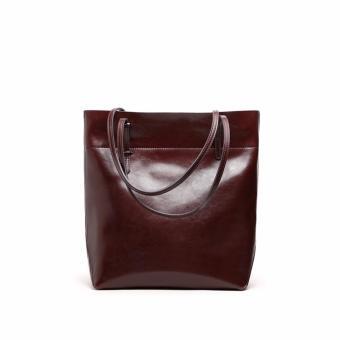 Túi xách nữ da thật cao cấp phong cách Châu Âu QSL072L dáng dọc (Cà phê) - 3697084