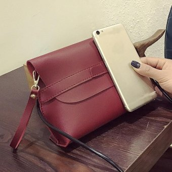Women Fashion Handbag Shoulder Bag Tote Ladies Purse Red - intl