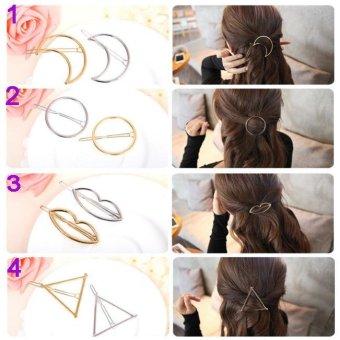 Combo 3 kẹp tóc thời trang Hàn quốc (Số 1, 3, 4) KAH42 (Mầu bạc)