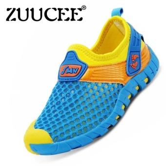 Boys Fashion Sports Shoes Net Shoes Sneaker (Blue) - intl