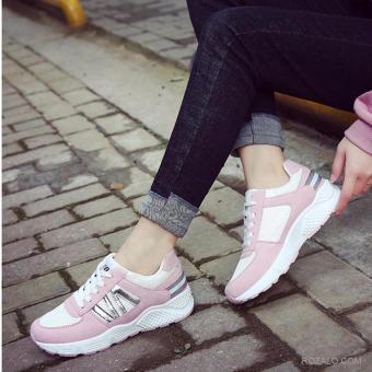 Giày sneaker thể thao nữ Sportmax SWG3506WP-Trắng Hồng