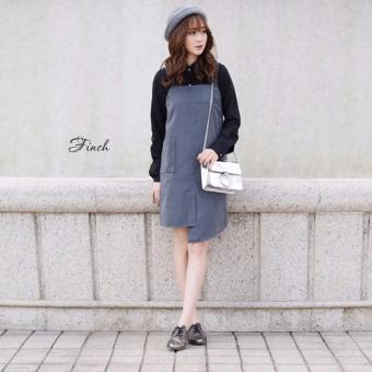 Đầm suông kết hợp sơ mi tay dài croptop Xavia Clothes Finch