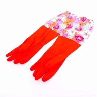 Găng tay cao su lót nỉ giữ ấm cho mùa đông
