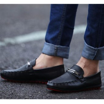 2016 New Men's Driving Casual Boat Shoes Leather Shoes Moccasin Slip On Loafers - intl