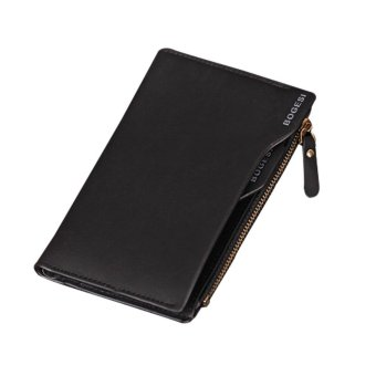 niceEshop Leather Mens Bifold Wallets With Slim Minimalist Card Pocket Black - intl