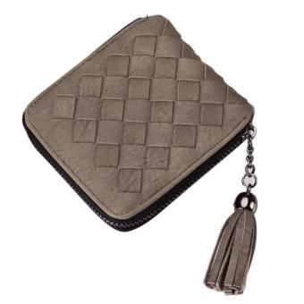Women Tassel Weave Coin Purse Short Wallet Card Holders Handbag - intl