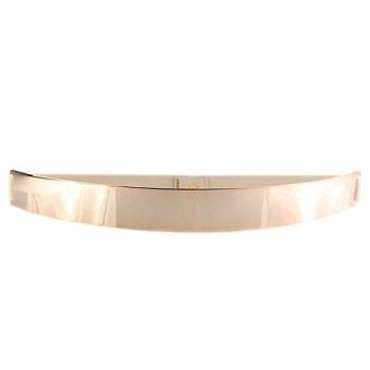 Sexy Women Metallic Bling Gold Plate Slim Simple Band Elastic Metal Waist Belt Coffee