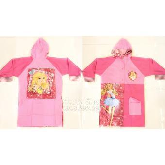 Áo mưa hình công chúa Barbie dành cho trẻ em , học sinh và các bé có nhiều size (L-XL) - AMBB02