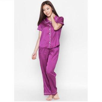 Pyjama lụa dài Cloud TD1 (Tím)