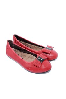 Giày búp bê nữ da bò Minh Tâm MT749GN (Đỏ)