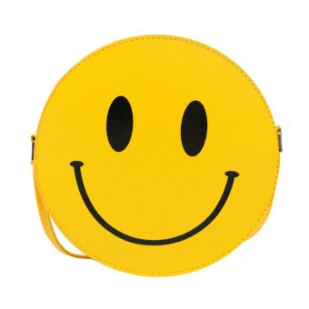 Woman PU Leather Smile Face Leisure Small Bag (Yellow)