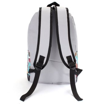 Vintage Unisex Oxford Travel Rucksack Girl School Bag Satchel Bookbags Backpack Grey - Intl - intl