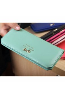 Bow Clutch Card Holder Money Clip Bag Purse (Green)
