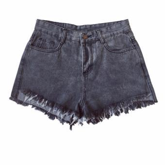 Quần short jean lưng cao thời trang Hàn Quốc