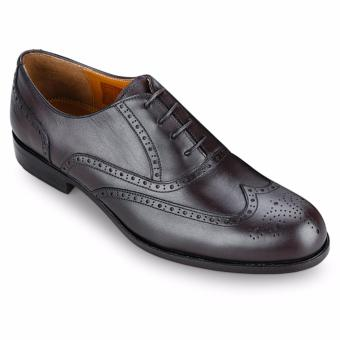 Giày Da Pierre Cardin Brown Brogue Oxford - PCMFWLA012