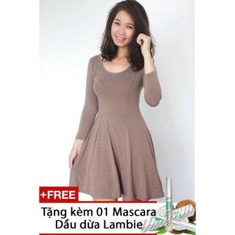 Đầm Cotton 06 chiều tay lở F21 VNXK - Tặng Kèm 01 Mascara Dầu dừa Lambie