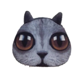 Dog Cat Face Coin Change Zip Purse Pouch Pocket Mini Hand Bag Wallet BlueCat - Intl
