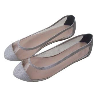 Giày nhựa phối nhũ Dolly&Polly DL157 (Trắng)