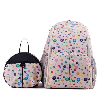 2 Pcs Multi-functional Anti-lost Parent Mommy and Child Baby Kids Safety Backpack Bag Kit (Creamy White) - intl