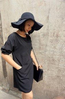 Đầm suông Xavia Clothes Camelia (Đen)