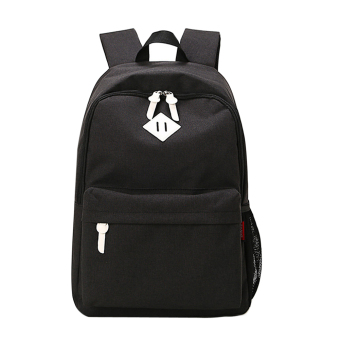 Canvas School Bag Backpack(Black) - intl