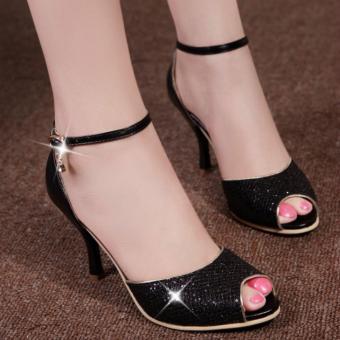 Giày cao gót khóa đá cao cấp