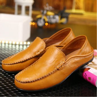 Giày lười nam da bò ZANI ZMG220138BR - Nâu