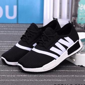 Giày sneaker thời trang nữ Rozalo RW4101BW - Đen Trắng