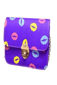 HKS Fashion Women Handbag PU Shoulder Bag Satchel Messenger Bag Hobo Tote Purple - intl
