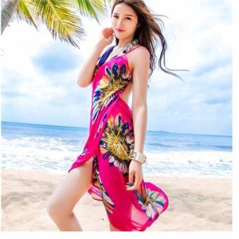Khăn tắm đi biển hoa hướng dương (hồng)