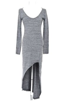 Linemart Irregular Women Slim Dresses (Gray) - intl