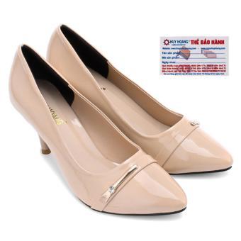 HL7016 - Giày nữ Huy Hoàng gót cao 7cm màu kem