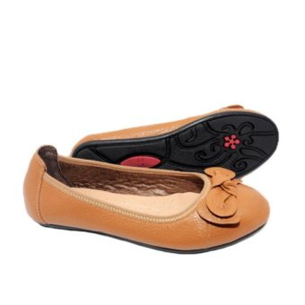 Giày Búp Bê Nữ Da Bò Minh Tâm MT740GN