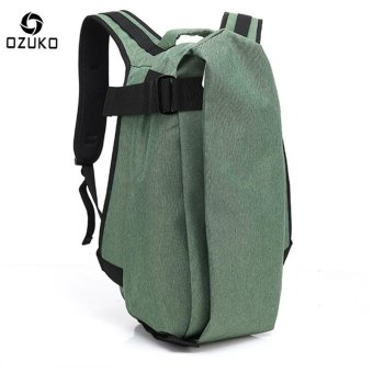 OZUKO Men Backpack Anti-theft Rucksack School Bag Casual Travel Waterproof Backpacks Male Laptop Computer Bag (Green) - intl