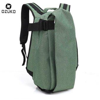 OZUKO Men Backpack Anti-theft Rucksack School Bag Casual Travel Waterproof Backpacks Male Laptop Computer Bag (Green) - intl