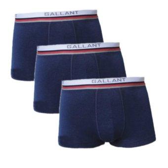 Bộ 3 quần lót nam Boxer Brief dạng đùi (Xanh than)