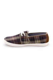 Giày vải nam Aqua Sportswear M126 (Nâu Caro)