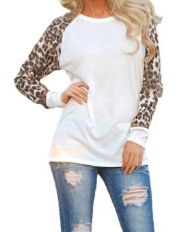Women's Leopard Chiffon Blouses (Intl)