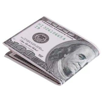 Ví da in hình tiền 100USD BBL01