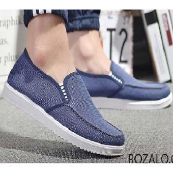 Giày lười vải nam Rozalo RM6301X - Xanh