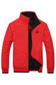 Áo khoác nam 2 mặt chống thấm nước (Đỏ)