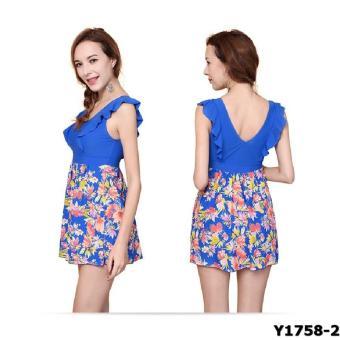 Bộ liền váy Yingfa Y1758-2 (xanh)