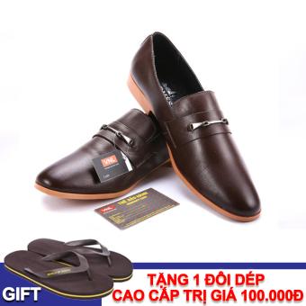 Giày tây nam công sở da thật Da giày Việt Nam VNL1AZ803N-1 + Tặng 1 đôi dép