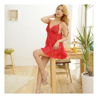Váy Ngủ Sexy Ren D572 (Đỏ)
