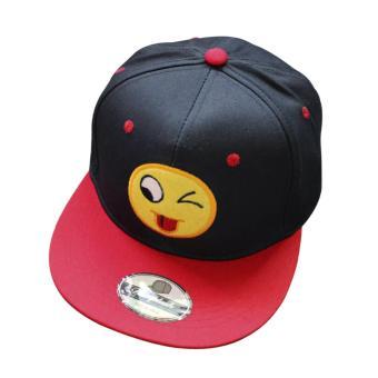 Fahion Uniex Adjutabe Hip Hop napBagck BageBag Cap (Navy Bue)